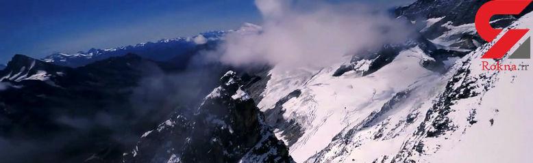 شگفت انگیزترین حرکات یک پهپاد بالای کوه های سوییس + فیلم