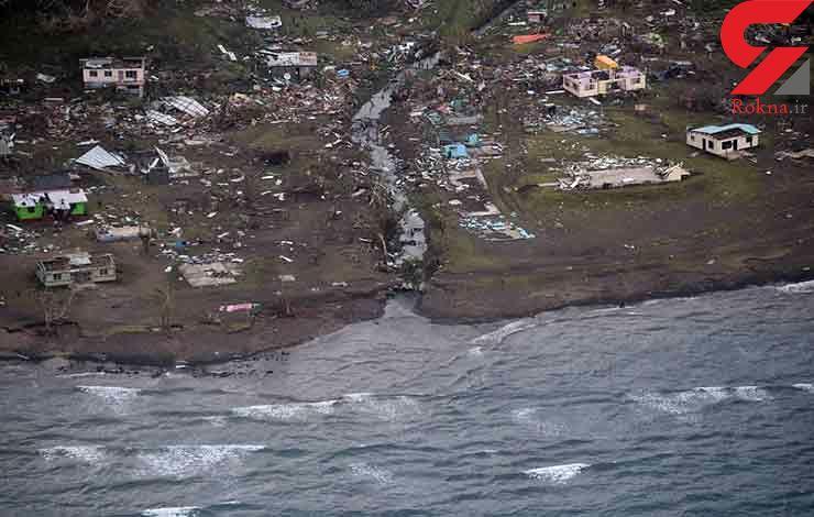 توفان روستاهای فیجی را ویران کرد