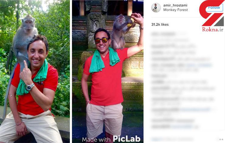 تفریحات گرانقیمت بازیگر پولدار ایرانی در بالی +عکس