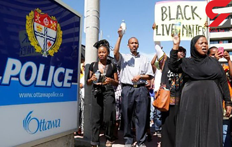 اعتراض به کشته شدن یک سیاهپوست به دست پلیس کانادا