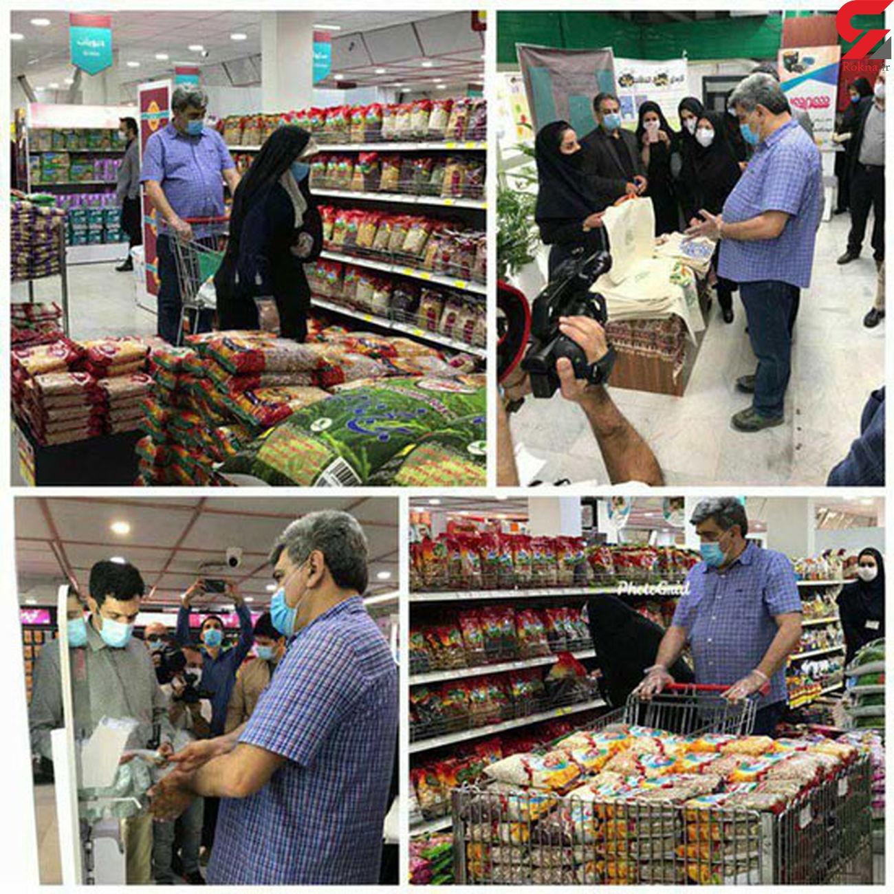 شهردار تهران هنگام خرید + عکس