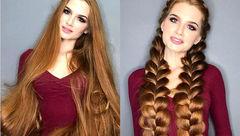 راز موهای زیبا و جذاب دختر کچل روسی لو رفت+تصاویر