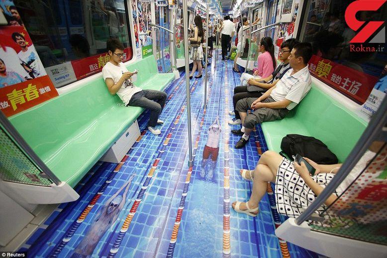 نقشهای ورزشی در متروهای «بانجینگ» چین