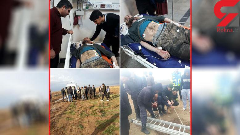 مرد کرجی 2 روز در چاه زندانی بود! + عکس ها
