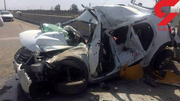 تصویر هولناک از یک تصادف مرگبار در گناباد +عکس