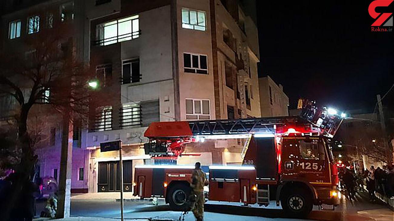 4 عکس از  آتش سوزی منزل مسکونی در جنت آباد جنوبی