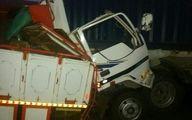 حادثه مرگبار در زنجان / راننده خواب آلود پس از برخورد با گاردریل جان باخت