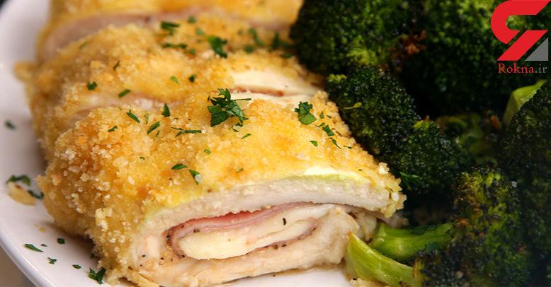 رولت مرغ خوشمزه ترین غذای فوری+دستور تهیه