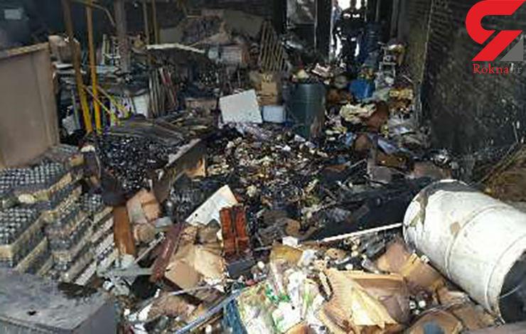 آتش سوزی در کارخانه تولید سم+عکس