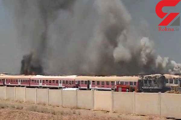 فاجعه آتشین 100 واگن قطار در پرند را خاکستر کرد+ عکس