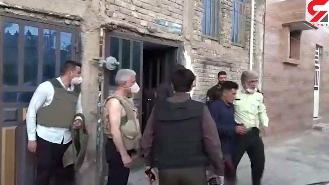فیلم لحظه گروگانگیری مسلحانه در خانه زن گناوه ای / فرمانده پلیس فارس خودش دست به کار شد