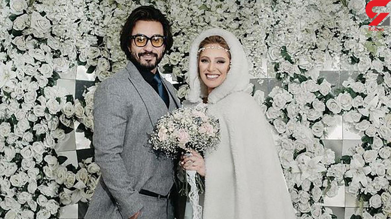 عکس عروسی خانم بازیگر چشم آبی ایران + عکس های جدید