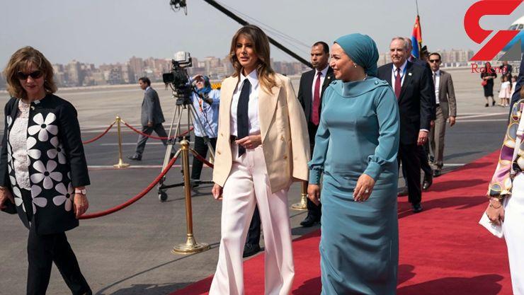 ملانیا ترامپ این بار در اهرام مصر جنجال کرد! + تصاویر
