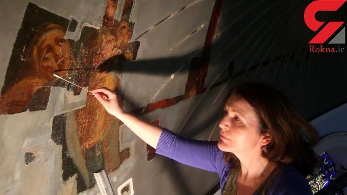 کشف نقاشی 200 ساله روی سقف کلیسا