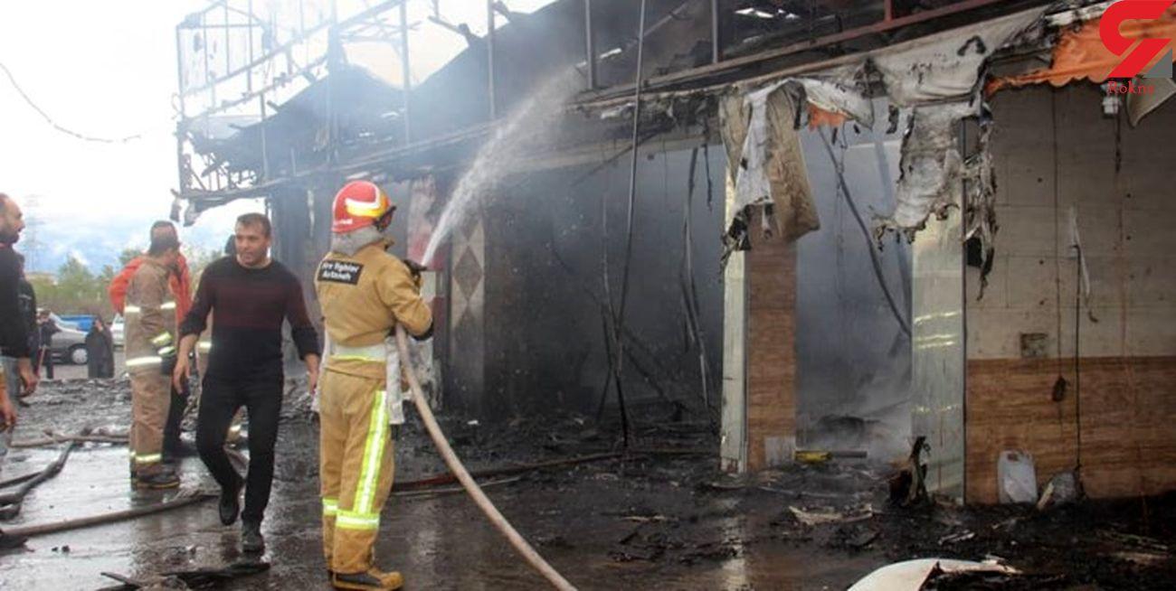 آتشسوزی چهار باب مغازه در آستانهاشرفیه
