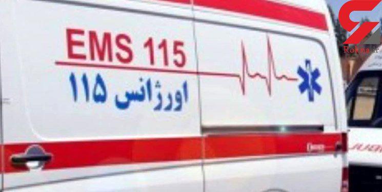 تصادف تیبا با اتوبوس در اشرفی اصفهانی