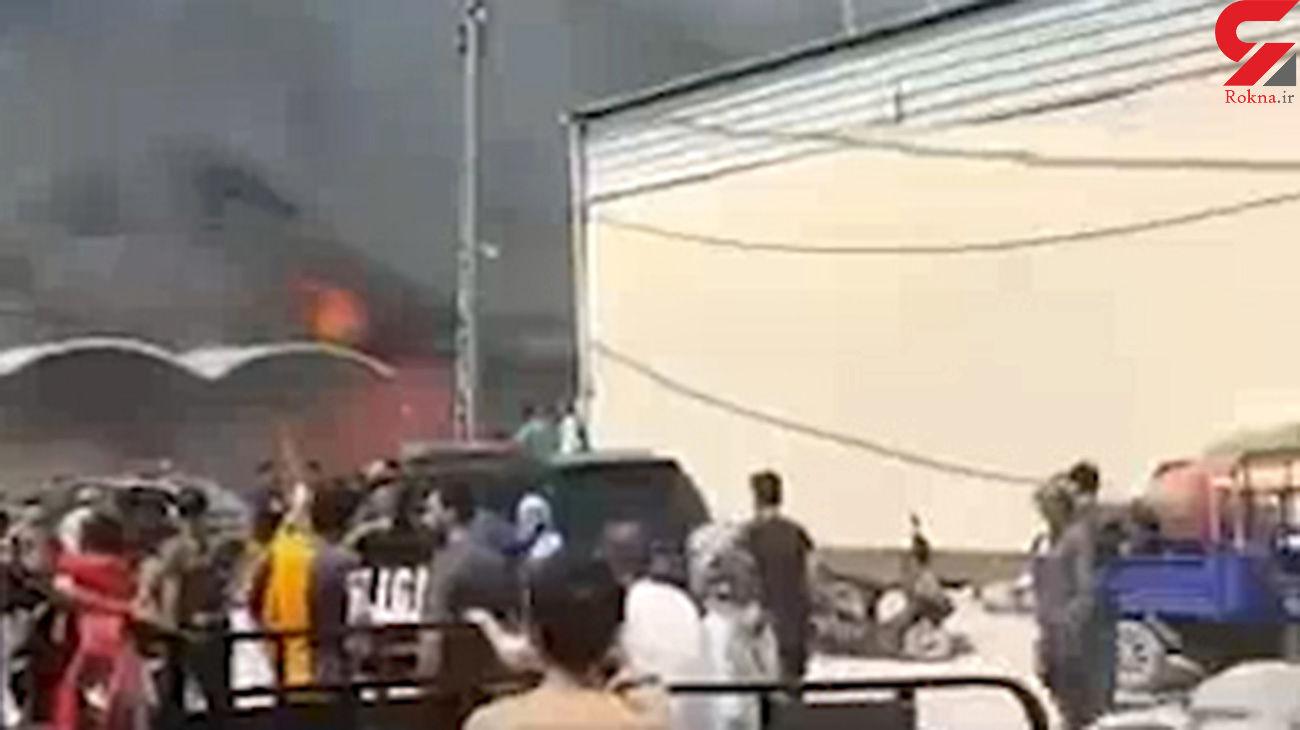 فیلم آتش سوزی بزرگ در نجف عراق / امروز رخ داد