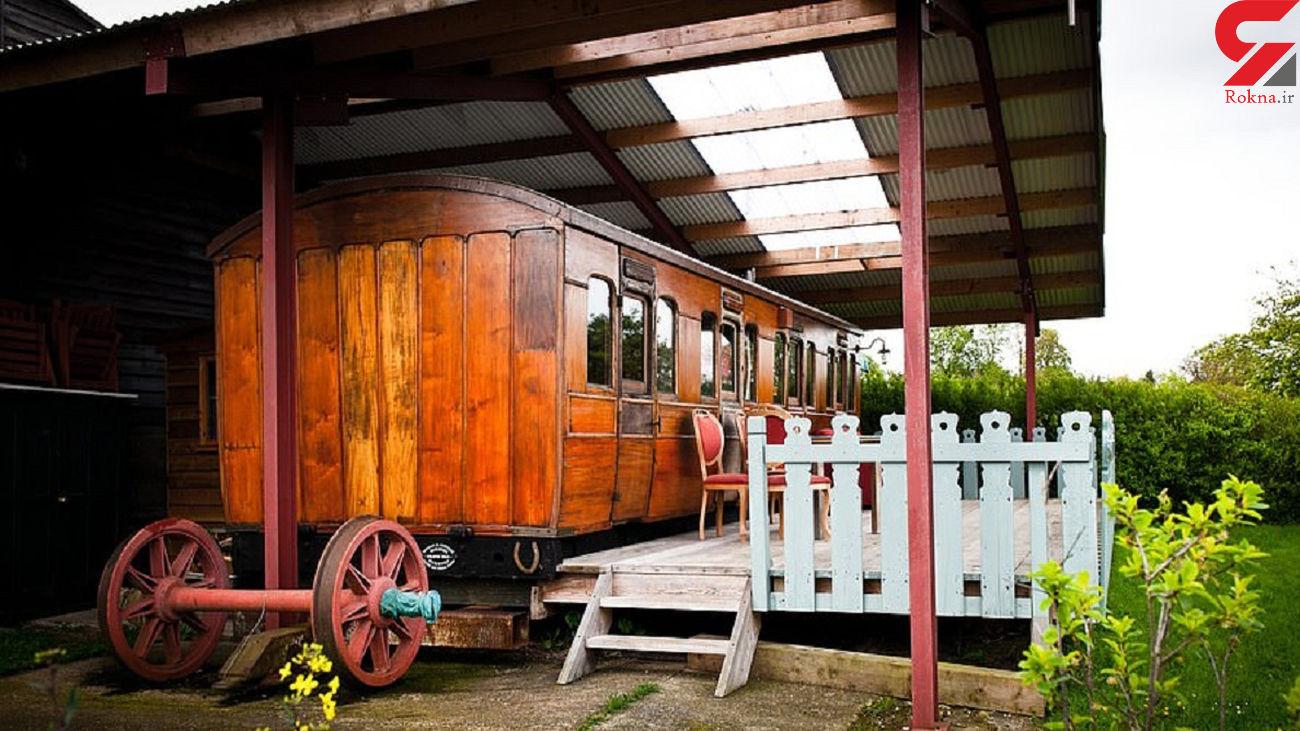 اقامت در هتل از جنس قطار + عکس های زیبا