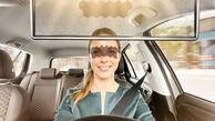 آفتابگیر نوآورانه خودرو که از تصادف جلوگیری می کند