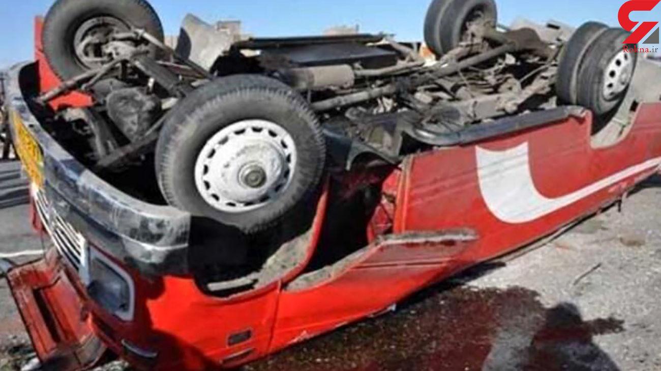 واژگونی خودروها در چناران حادثه آفرید/ 21 نفر مصدوم شدند