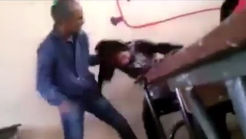 فیلم لحظه کتک خوردن وحشیانه دختر دبیرستانی توسط معلم + جزییات