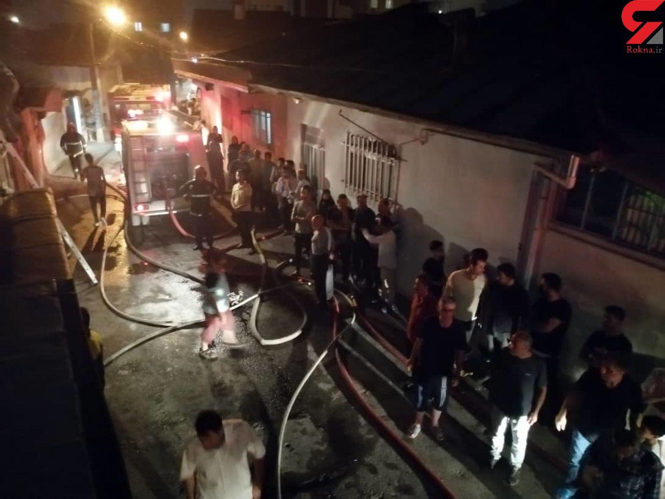 خانه های ویلایی در آتش سوختند/به همراه عکس