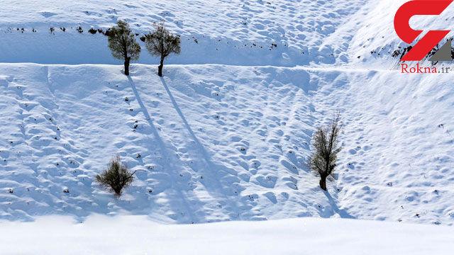 ارتفاع برف در ارتفاعات گلستان به حدود یک متر رسید