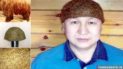 بافت کلاه از موهای یک ماموت +تصاویر