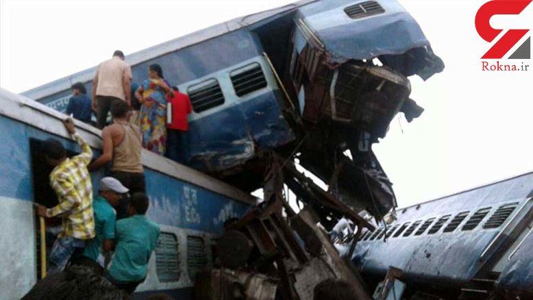 خروج قطار از ریل در هند 23 کشته و 150 مجروح برجای گذاشت +عکس