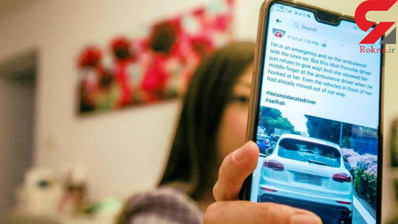 رفتار زشت راننده پورشه با  آمبولانس / بیمار با مرگ دست و پنجه نرم می کرد + عکس / سنگاپور