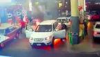 آتش سوزی وحشتناک در پمپ بنزین + فیلم