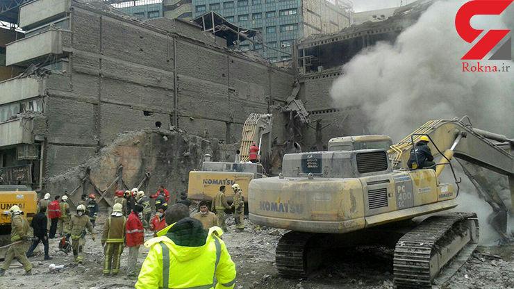 ۳ آتش نشان و احتمالا ۶ نفر ازمردم عادی هنوز در زیر آوار هستند