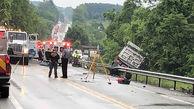تصادف زنجیرهای مرگبار در آلمان
