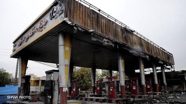 21 عکس  انتشار نیافته از پمپ بنزینهای سوخته  تهران /وزارت نفت انتشار داد