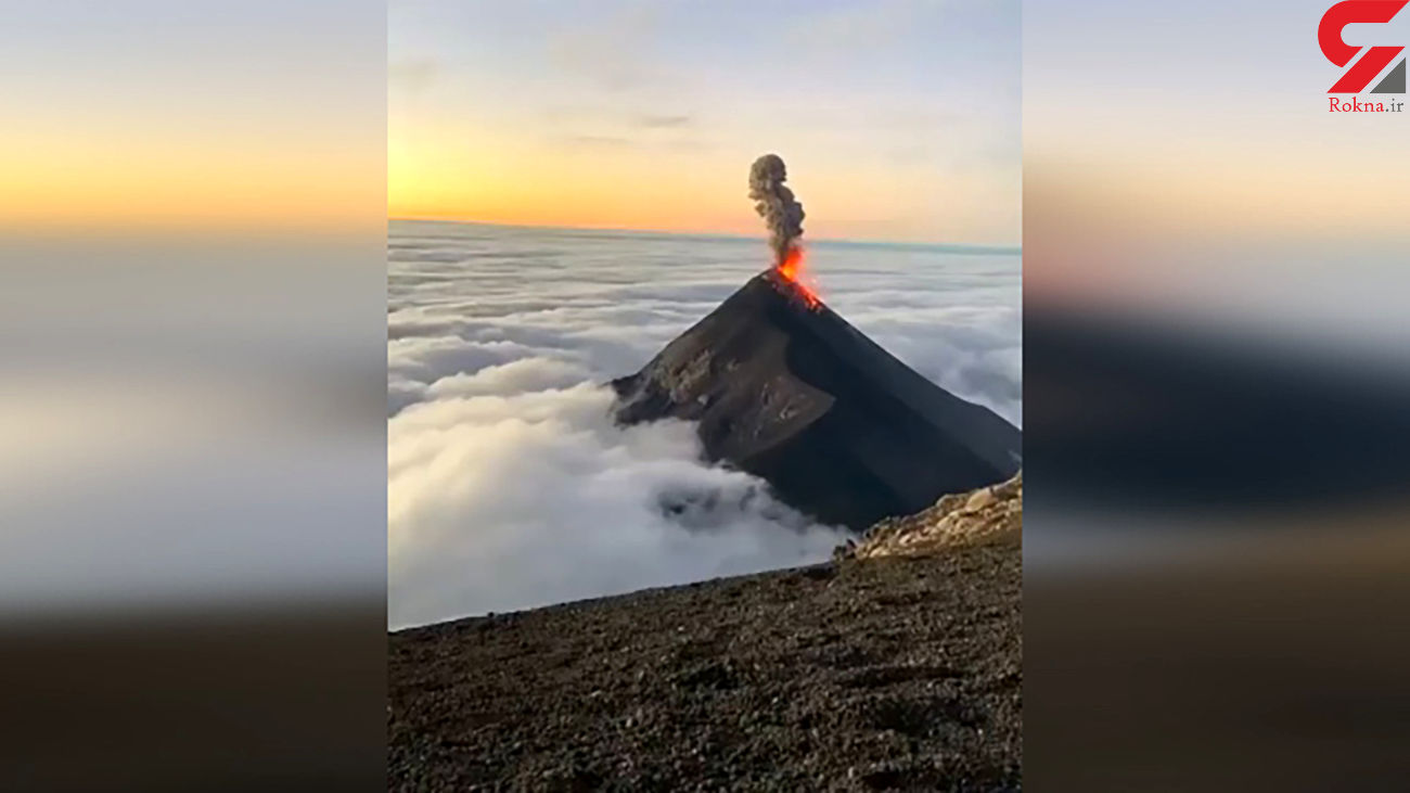 لحظه فوران یک آتشفشان از نمای نزدیک + فیلم