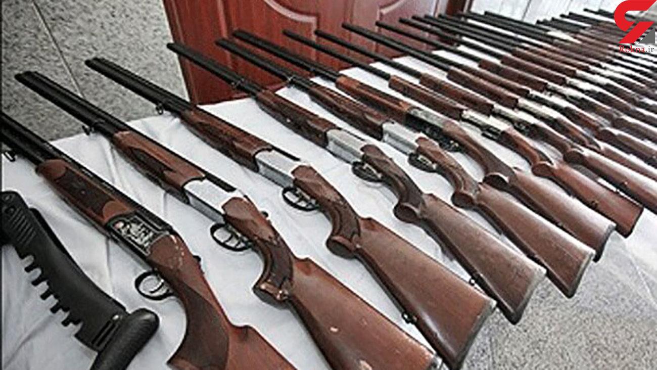 کشف 15 قبضه سلاح شکاری غیرمجاز/ گنبدکاووسی ها وحشت کردند