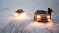 وضعیت خطرناک جاده هراز پس از بارش برف + فیلم