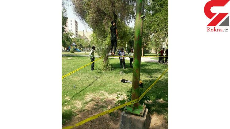 عکس 16+ / خودکشی یک جوان در پارک اهواز