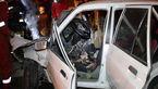آتش گرفتن پژو 405 در فضای سبز اتوبان رسالت