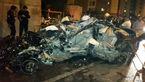 تصادف وحشتناک در شب گردی های دو جوان 25 ساله در شرق تهران+عکس و فیلم