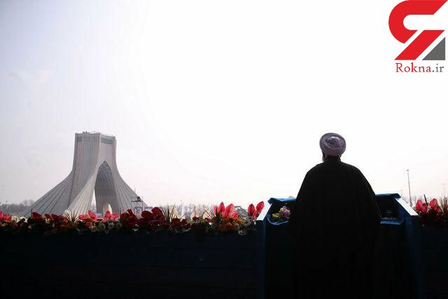 سخنرانی روحانی در مراسم 22 بهمن تهران آغاز شد