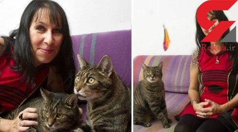 ازدواج زن جوان با دو گربه برادر+عکس