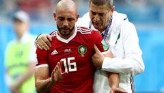 بازیکن مراکش ضربه مغزی شد / او در نبرد با وحید امیری مصدوم شده بود