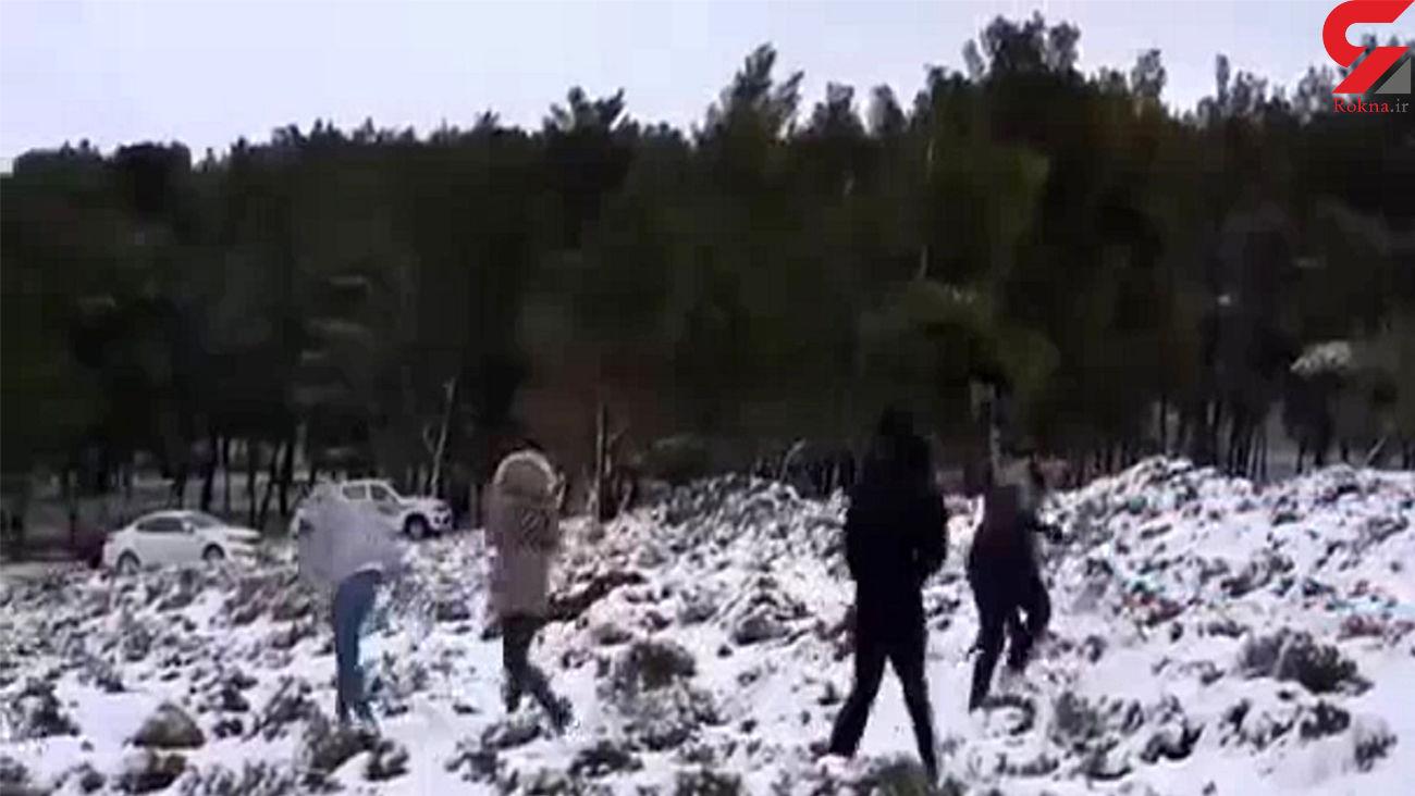 ذوق عجیب مردم لیبی از بارش برف + عکس