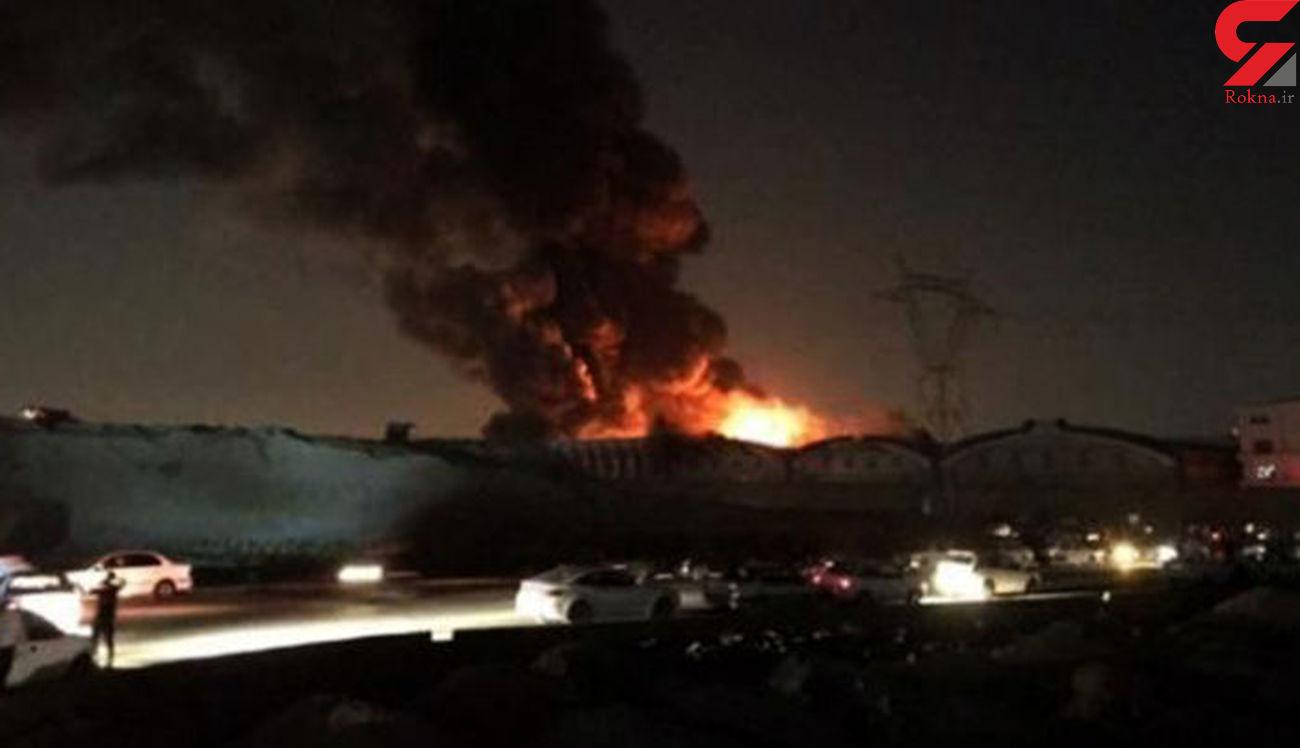 آتش سوزی مهیب کارخانه «اکتیو» در کرج