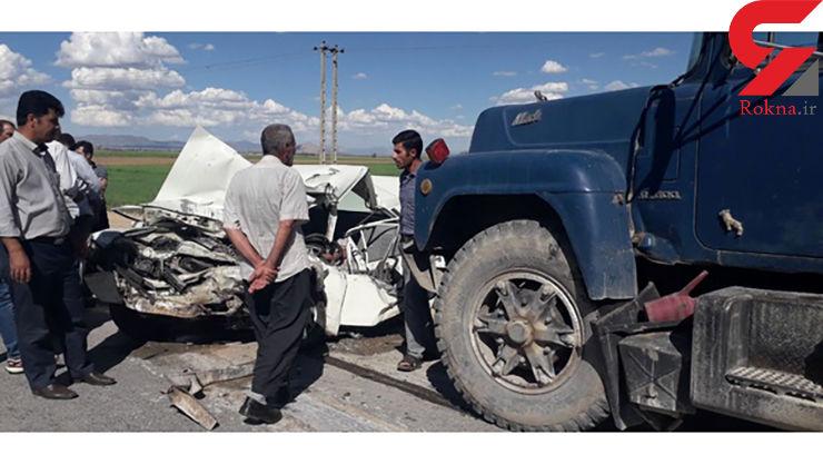 خواب آلودگی راننده پیکان حادثه آفرید/ 3 جوان در تصادف با تریلر کشته شدند