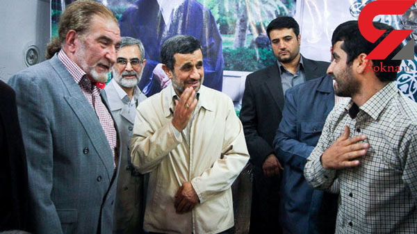 احمدی نژاد همه را در مشهد بوسید! +فیلم