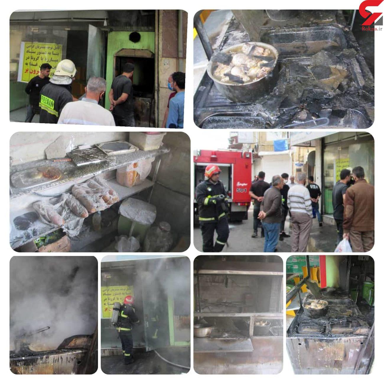 8 عکس از آتش سوزی در خیابان سعدی