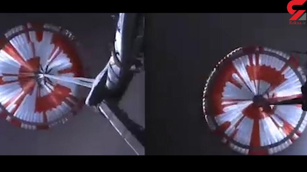 اولین فیلم فرود کاوشگر استقامت بر سطح مریخ