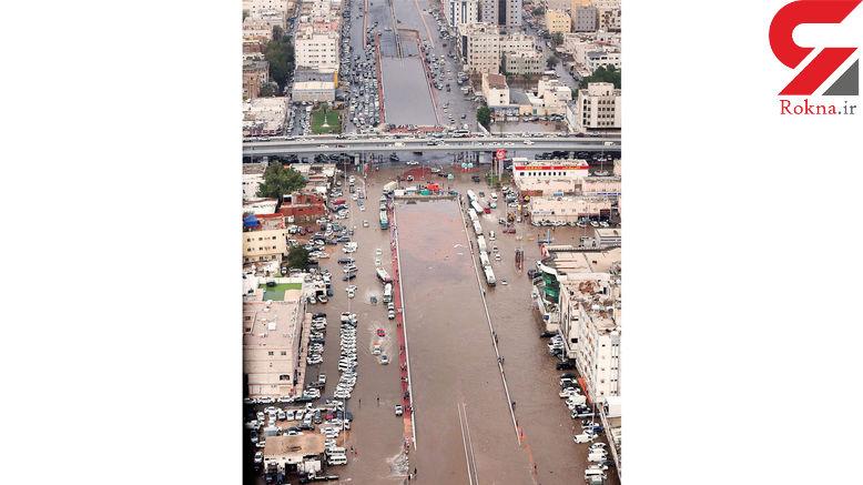 شهر جده به زیر آب رفت+ عکس عجیب